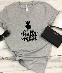 V-Neck T-Shirt - Ballet Mom - thegiftkornershop