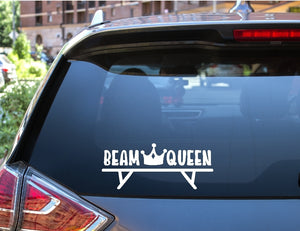 Car Window Decal - Beam Queen (Gymnastics) - thegiftkornershop