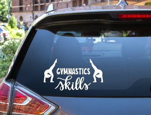 Car Window Decal - Gymnastics Skills - thegiftkornershop