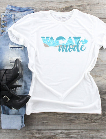 T-Shirt -  Vacay Mode (V-Neck or Unisex Classic Fit) - thegiftkornershop