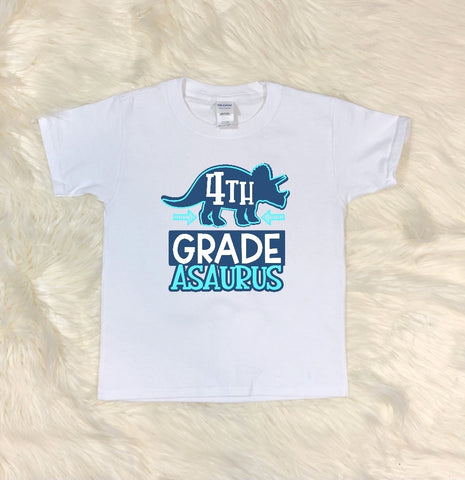 Youth T-Shirt - 4th Grade Asaurus - thegiftkornershop