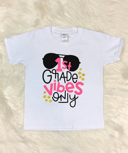 Youth T-Shirt - 1st Grade Vibes Only - thegiftkornershop