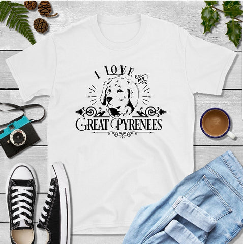 T-Shirt - I Love My Great Pyrenees (Classic Fit or V- Neck) - thegiftkornershop