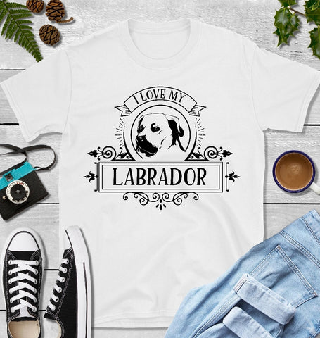 T-Shirt - I Love My Labrador (Classic Fit or V- Neck) - thegiftkornershop