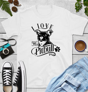 T-Shirt - I Love My Pitbull (Classic Fit or V- Neck) - thegiftkornershop