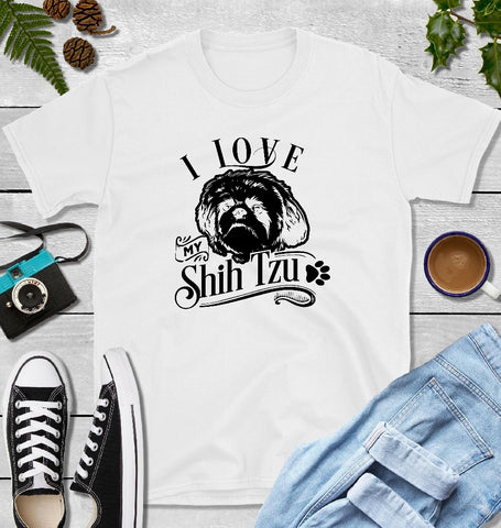 T-Shirt - I Love My Shih Tzu (Classic Fit or V- Neck) - thegiftkornershop