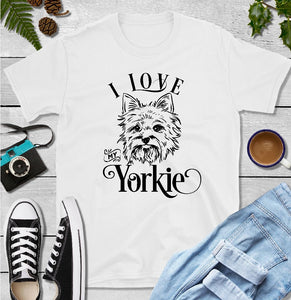 T-Shirt - I Love My Yorkie (Classic Fit or V- Neck) - thegiftkornershop