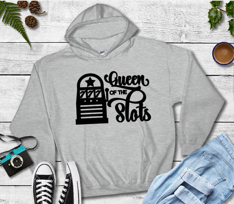 Hooded Sweatshirt - Queen Of The Slots - thegiftkornershop