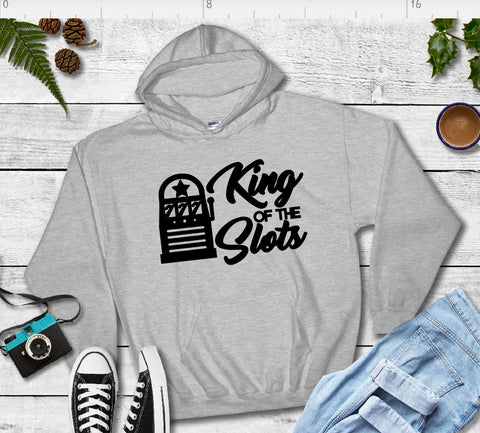 Hooded Sweatshirt - King Of The Slots - thegiftkornershop