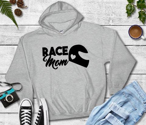 Hooded Sweatshirt - Race Mom - thegiftkornershop