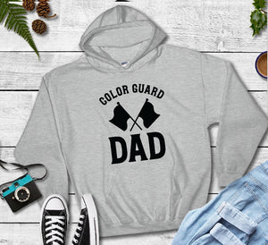 Hooded Sweatshirt - Color Guard Dad - thegiftkornershop