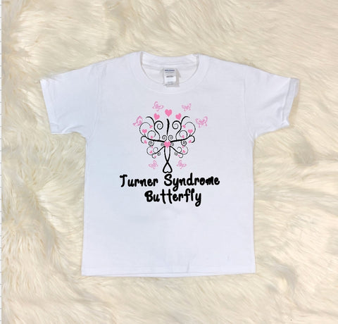 Youth T-Shirt - Turner Sydrome Butterfly - thegiftkornershop