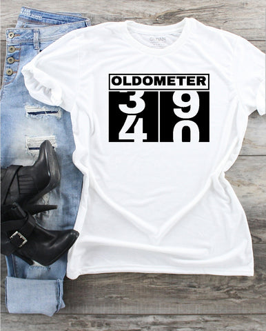 T-Shirt - Oldometer 39/40 (40th Birthday) - thegiftkornershop
