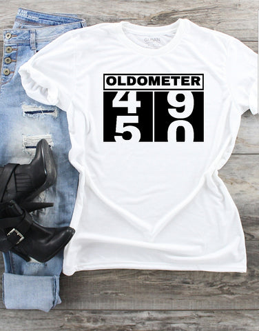 T-Shirt - Oldometer 49/50 (50th Birthday) - thegiftkornershop