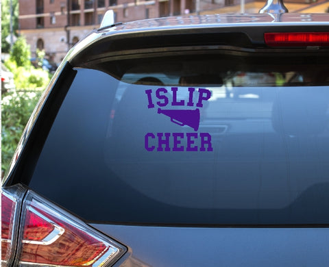 Car Window Decal - Islip Cheer - thegiftkornershop