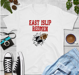 T-Shirt - East Islip Redmen (Distressed Font) - thegiftkornershop