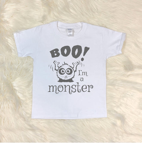 Youth T-Shirt - Boo I'm A Monster - thegiftkornershop