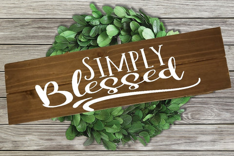 Home Wood Sign Wall Decor - Simply Blessed - thegiftkornershop