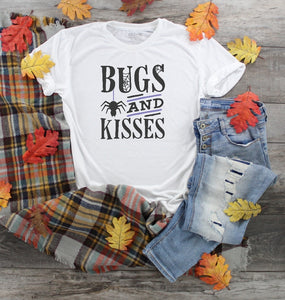 T-Shirt - Bugs And Kisses (V-Neck or Unisex Classic Fit) - thegiftkornershop