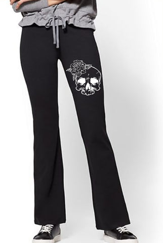 Yoga Pants - Skull Design - thegiftkornershop