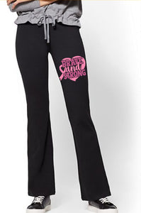 Yoga Pants - Brave And Strong (Cancer Awareness) - thegiftkornershop