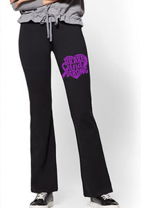 Yoga Pants - Brave And Strong (Turner Syndrome Awareness) - thegiftkornershop