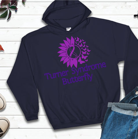 Hooded Sweatshirt - Turner Syndrome Butterfly - thegiftkornershop