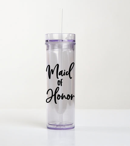 Drink Tumbler Cup - Maid Of Honor - thegiftkornershop
