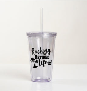 Drink Tumbler Cup - Rocking The Retired Life - thegiftkornershop