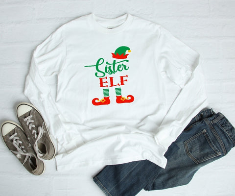 Long Sleeve Shirt - Sister Elf - thegiftkornershop