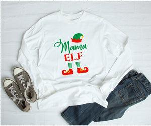 Long Sleeve Shirt - Mama Elf - thegiftkornershop
