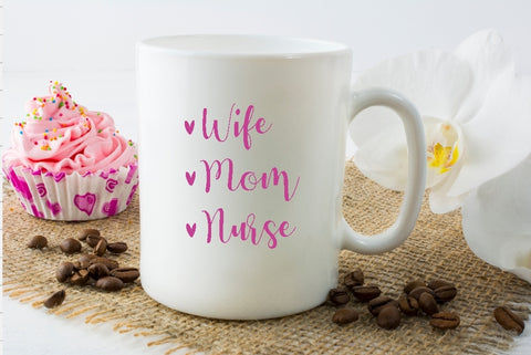 Mug 15oz. - Wife Mom Nurse - thegiftkornershop