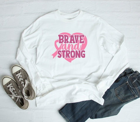 Long Sleeve Shirt - Brave And Strong - thegiftkornershop