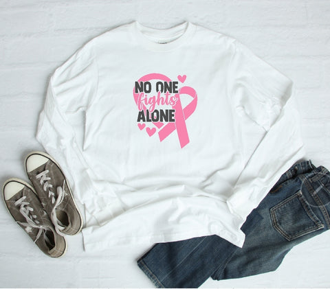 Long Sleeve Shirt - No One Fights Alone - thegiftkornershop