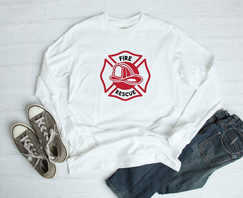 Long Sleeve Shirt - Fire Rescue - thegiftkornershop