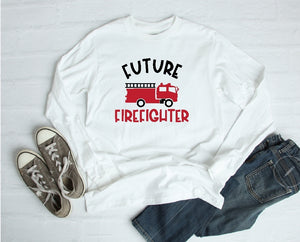 Long Sleeve Shirt - Future Firefighter - thegiftkornershop