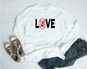 Long Sleeve Shirt - Love (Firefighter) - thegiftkornershop