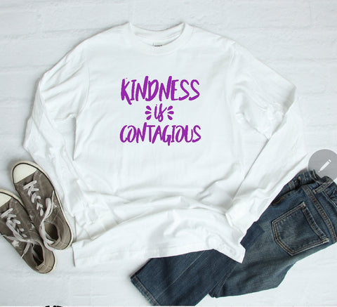 Long Sleeve Shirt - Kindness Is Contagious - thegiftkornershop