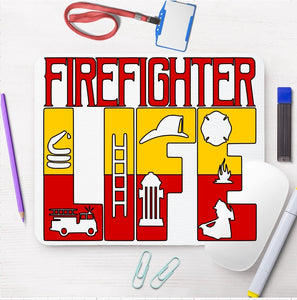 Mouse Pad - Firefighter Life - thegiftkornershop