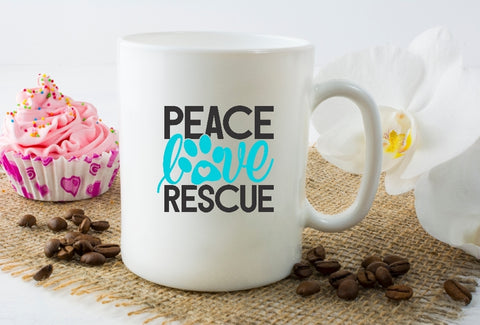 Mug 15oz. - Peace Love Rescue
