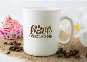 Mug 15oz. - Love Rescued Me