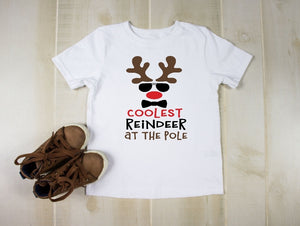 Youth T-Shirt - Coolest Reindeer At The Pole