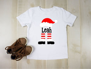 Toddler Softstyle Tee - Personalize Santa Monogram (Enter Name Below)