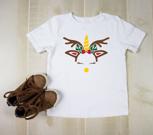 Youth T-Shirt - Unicorn Reindeer