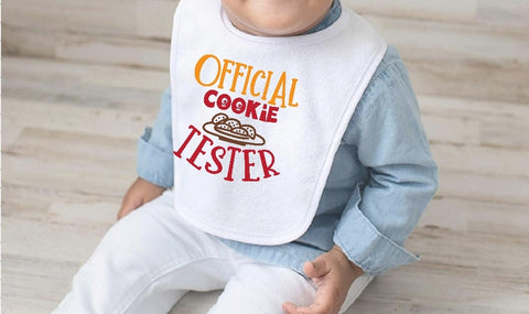 Baby Bib - Official Cookie Tester