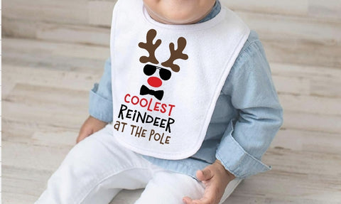 Baby Bib - Coolest Reindeer At The Pole