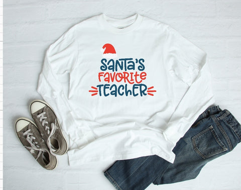 Long Sleeve Shirt - Santas Favorite Teacher