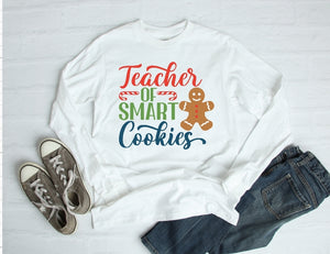 Long Sleeve Shirt - Teacher Of Smart Cookies