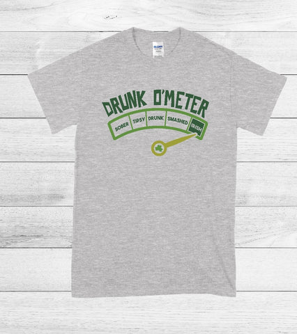 T-Shirt - Drink O'Meter  (V-Neck or Unisex Classic Fit)