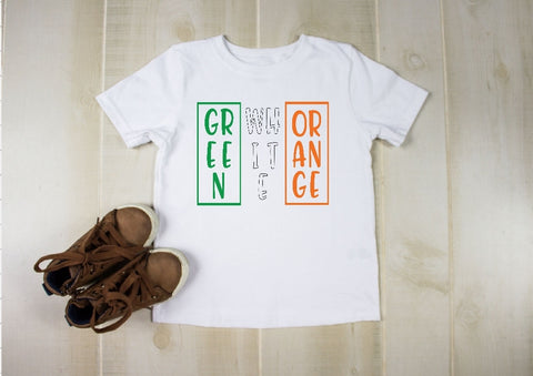 Youth T-Shirt - Green White Orange